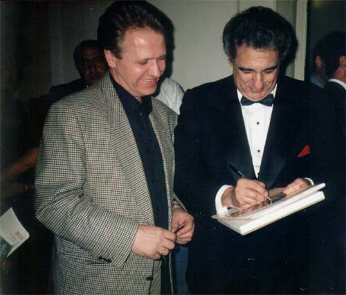 "F. Mozhaev & Placido Domingo after the ""Parsifal"""
